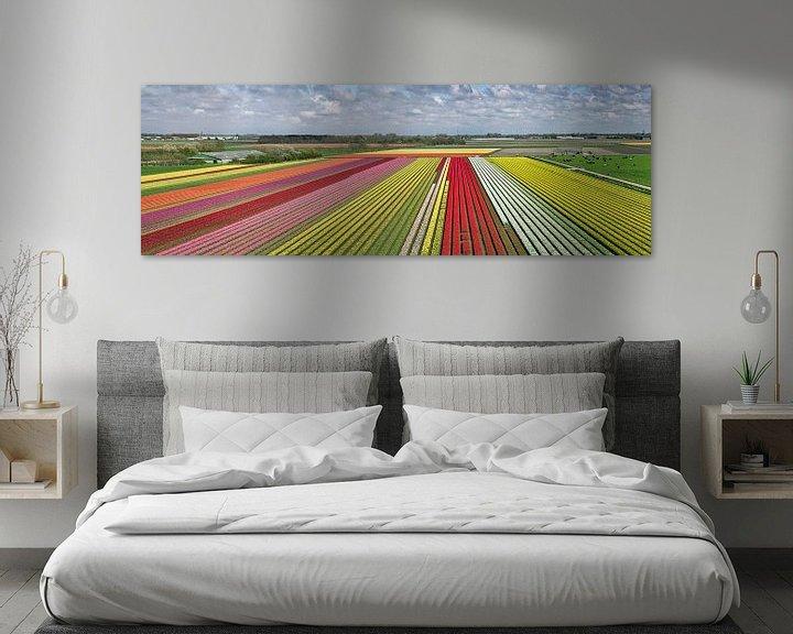 Impression: Champs de tulipes près de Krabbendam sur Frans Lemmens