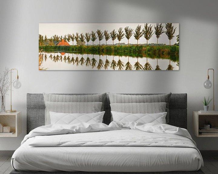 Beispiel: Baumreihe entlang des Ringkanals des Beemster-Polders von Frans Lemmens