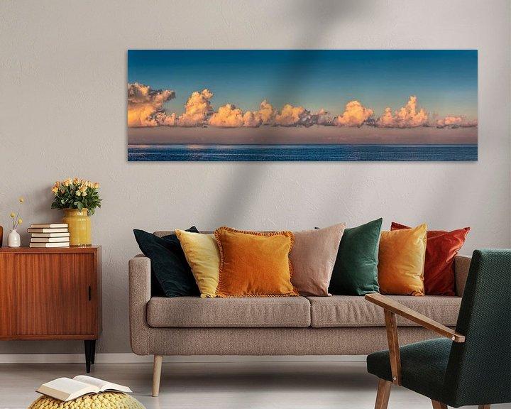 Beispiel: Wolkenpanorama über der Nordsee von Frans Lemmens