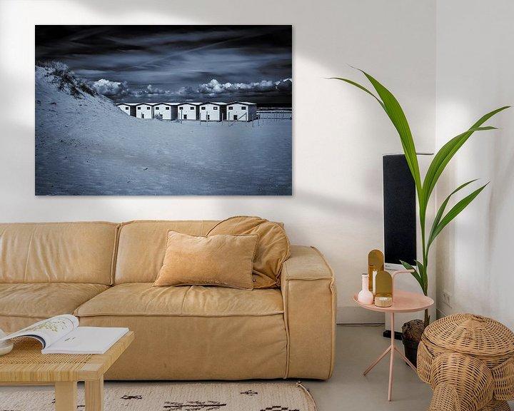 Beispiel: Strandhäuser in schwarz-weiß... von Nico van der Hout