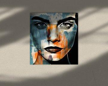 Just Face - Abstrakt Game Motiv Cara Delevingne