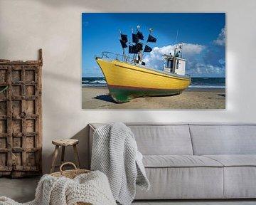 Fischerboot an der Ostsee von Heiko Kueverling