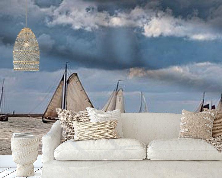 Beispiel fototapete: Segelschiffe der Braunen Flotte von Frans Lemmens