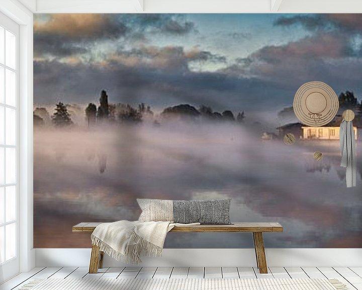 Beispiel fototapete: Hausboote auf der Vecht bei Weesp von Frans Lemmens