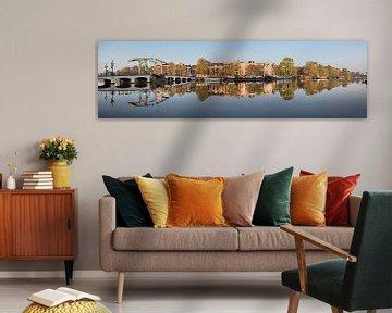 Panorama des maisons du canal et du Pont Maigre le long de l'Amstel