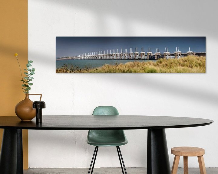 Impression: Panorama du barrage anti-tempête de Oosterschelde sur Frans Lemmens