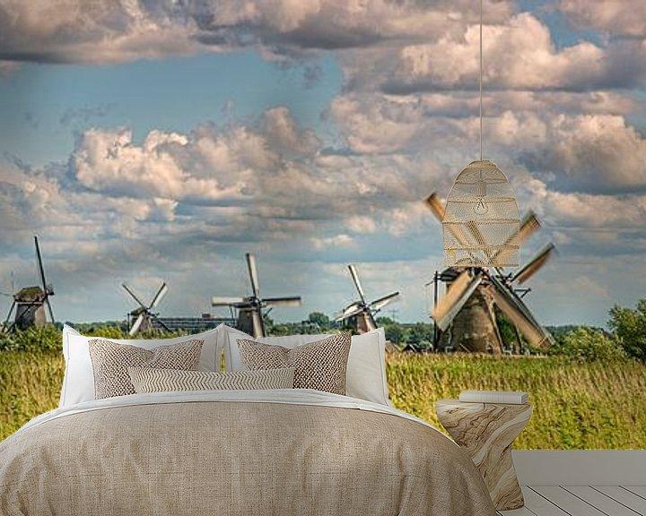 Impression: Panorama des moulins à vent de Kinderdijk sur Frans Lemmens