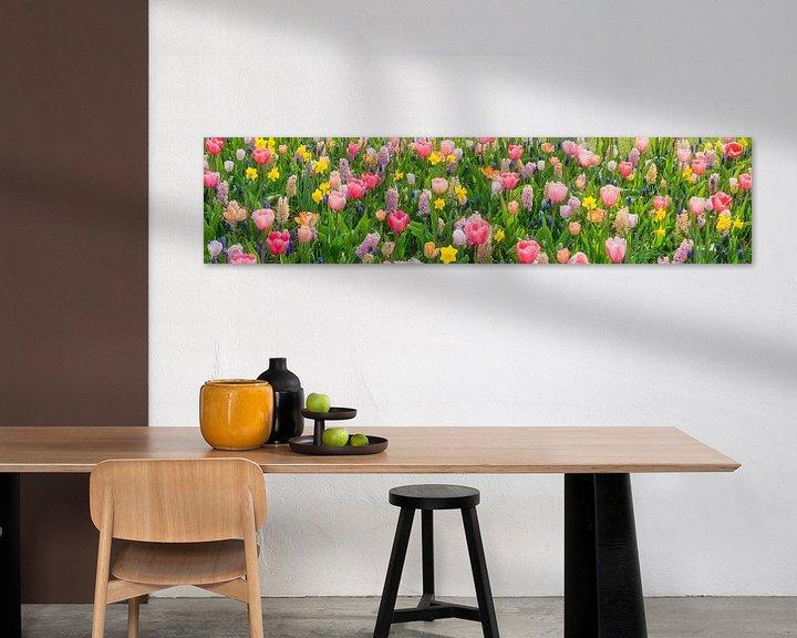 Beispiel: Panorama der Blumenpracht im Keukenhof Blumengarten von Frans Lemmens
