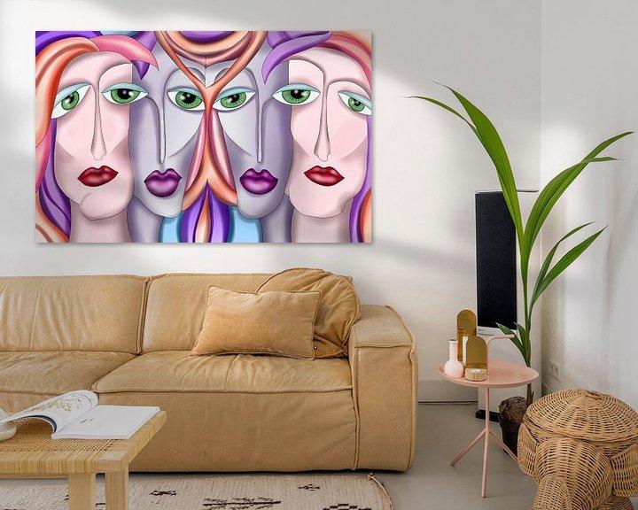 Beispiel: Abstrakte Kunst - Vier Frauen Urban Art von Patricia Piotrak