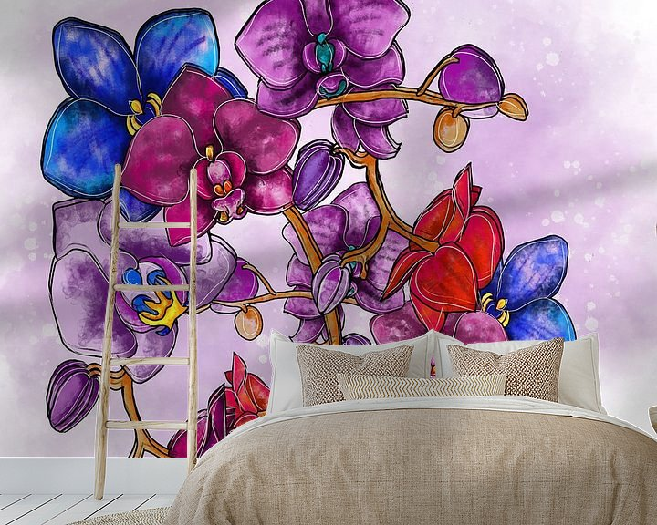 Beispiel fototapete: Blumenmotiv - Orchidee von Patricia Piotrak