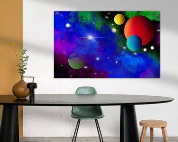 Cosmos - La galaxie bleue sur Patricia Piotrak
