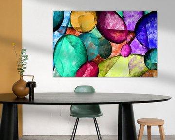 Abstrakte Kunst - Bunte Steine