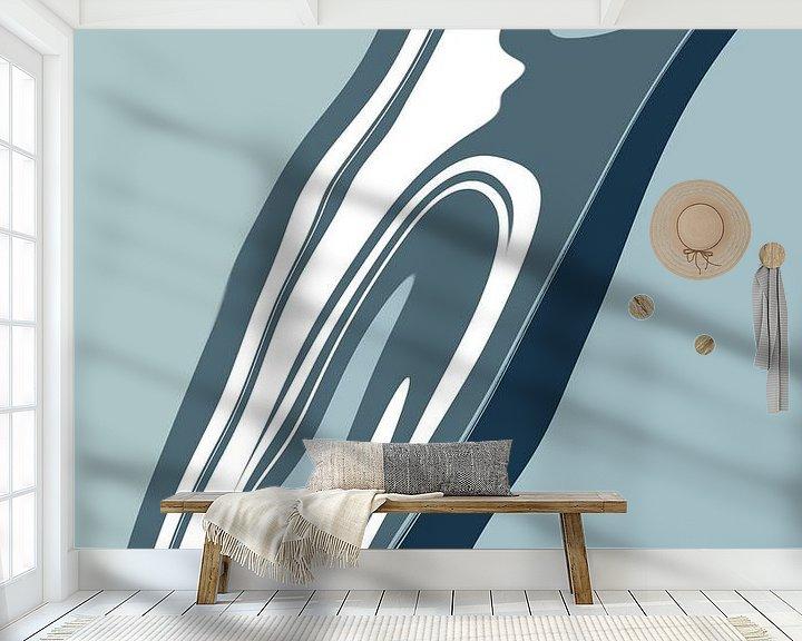 Beispiel fototapete: Abstraktes Bild Blautöne von Sophia Amend