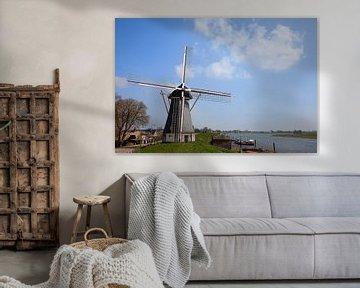 Windmolen in Nederhemert van Ivonne Wierink