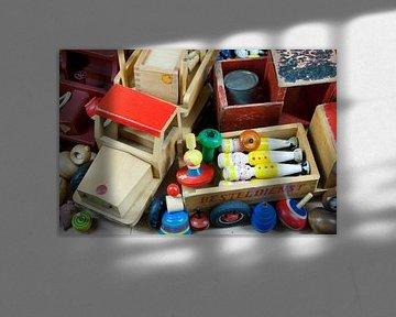 Altes Holzspielzeug von oben von Ivonne Wierink