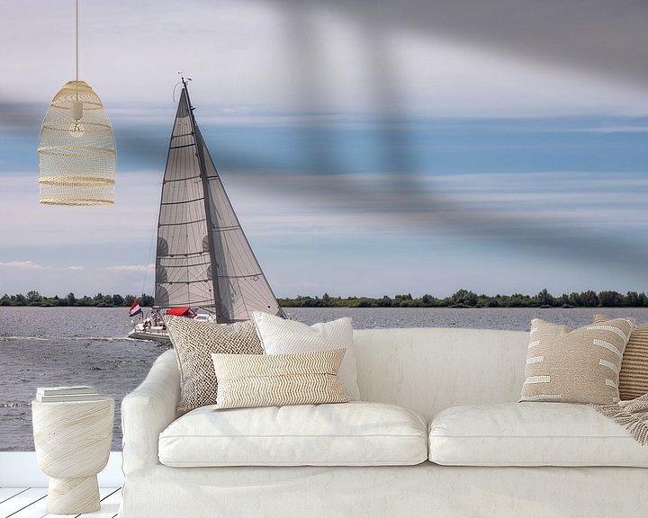 Sfeerimpressie behang: Zeilen op het Grevelingenmeer van Bram van Broekhoven