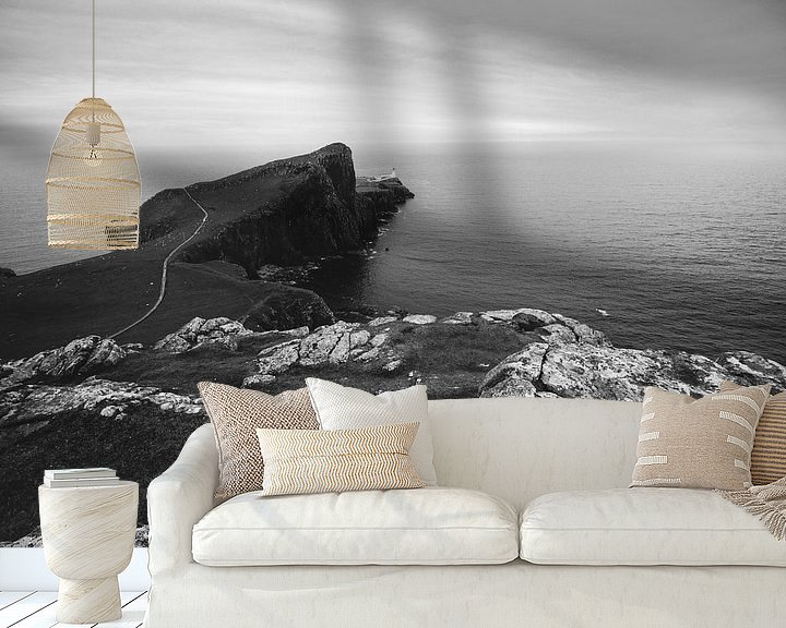 Sfeerimpressie behang: Neist Point Lighthouse van Katrin Friedl