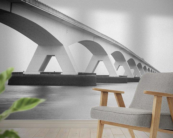 Sfeerimpressie behang: Zeelandbrug van Marc Arts