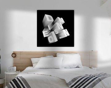 Dimension perspektivisch schwarz-weiß von Jörg Hausmann