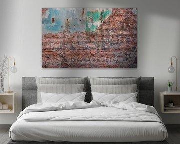 Baksteen oude muur Fotobehang 4 van Olivier Photography