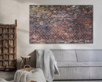 Baksteen oude muur Fotobehang 8 van Olivier Photography