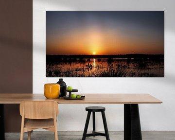 Zonsondergang in Drenthe. van Harma Kroeze-Raterink
