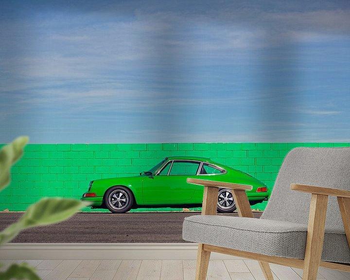 Beispiel fototapete: Willow Springs grün 911 von Maurice van den Tillaard