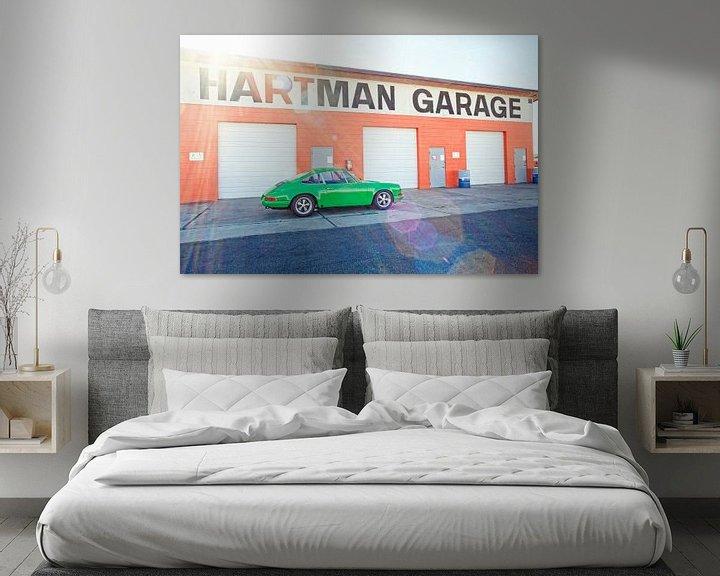 Beispiel: Garage Hartman - Weidenfedern Porsche von Maurice van den Tillaard