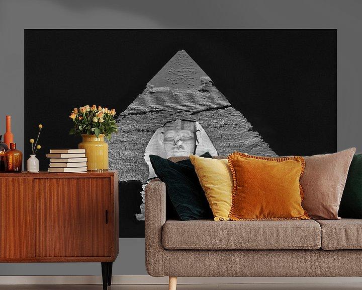 Impression: Sphinx et pyramide de Chéphren sur Frans Lemmens