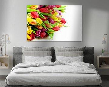 Tulpen Mix Bos Liggend Links von Erwin Plug