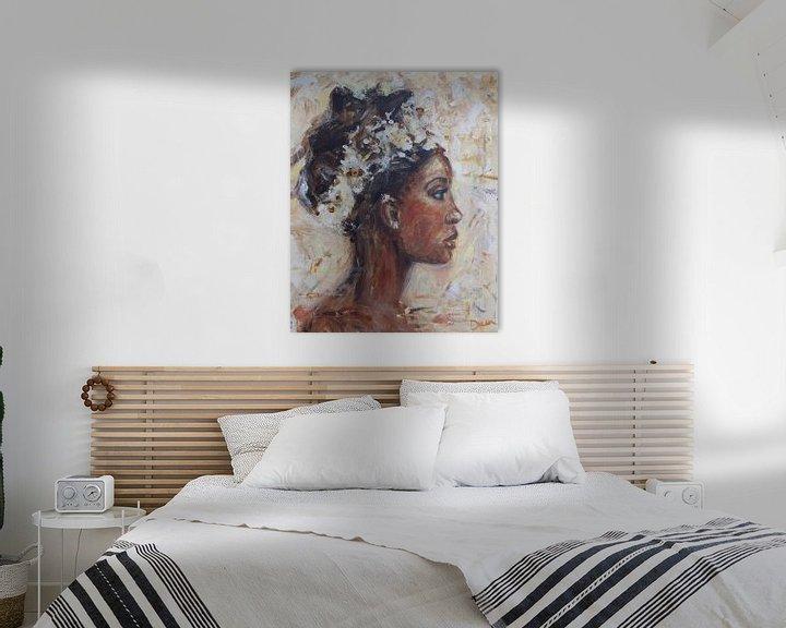 Beispiel: Abstraktes Gemälde einer afrikanischen Frau von Mieke Daenen