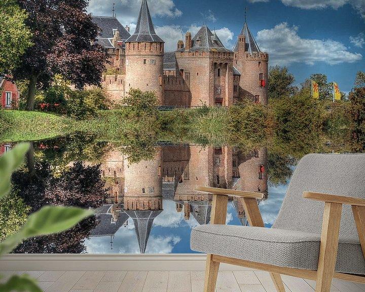 Beispiel fototapete: Wasserspiegelung, Muider Slot, Niederlande von Maarten Kost