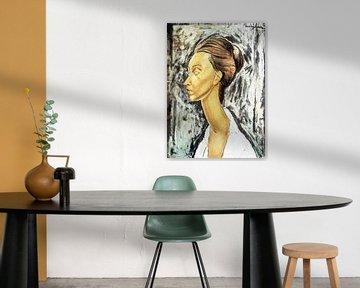 Lithografie einer Frau - Amedeo Modigliani