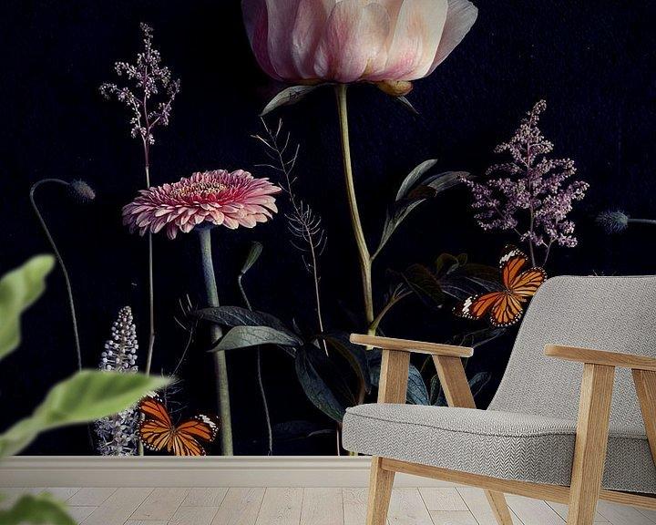 Beispiel fototapete: Blumenporträt (Pfingstrose) von Ineke VJ