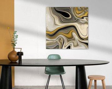 Abstrakte Kunst - Fluid Painting Sandwüste von Patricia Piotrak