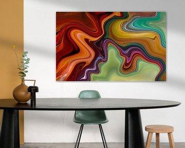 Abstrakte Kunst - Feuer und Eis