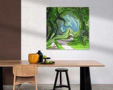 Abstrakte Kunst - Magisches Portal von Patricia Piotrak