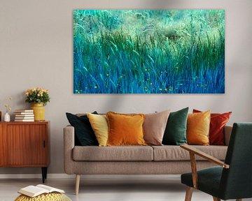 Blauw gras II van Corinne Welp