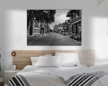 Der alte Jan, Delft, schwarz-weiß... von Nico van der Hout