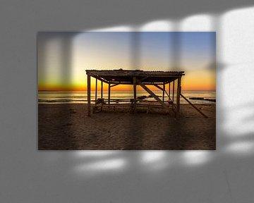 Vieux chalet sur la plage