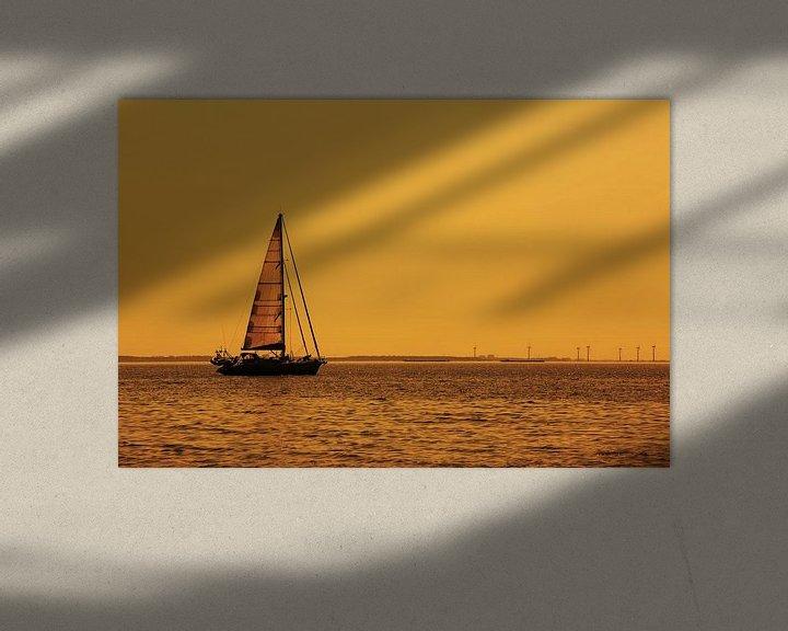 Impression: Un voilier sur la mer sur Frank Herrmann