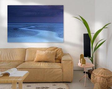 Blauw uur aan de Waddenzee