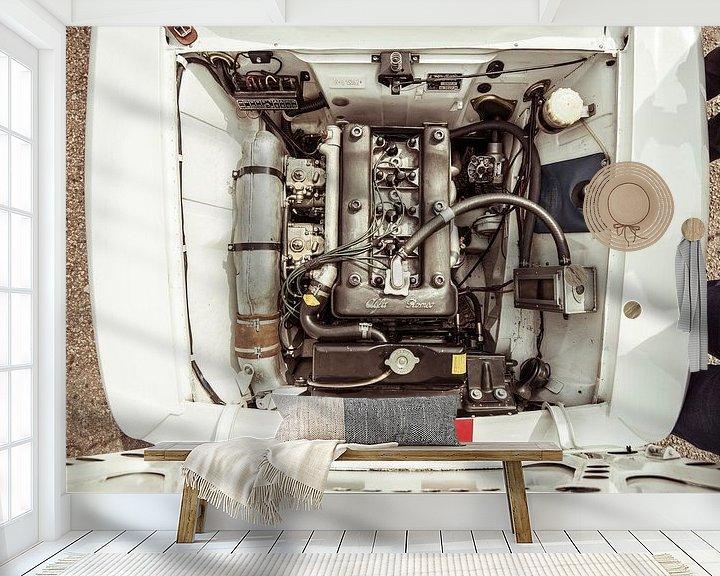Beispiel fototapete: Alfa Romeo Giulia Sprint GTA-Motor von Sytse Dijkstra