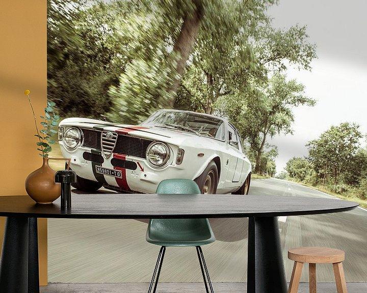 Sfeerimpressie behang: Alfa Romeo Giulia Sprint GTA Speeed van Sytse Dijkstra