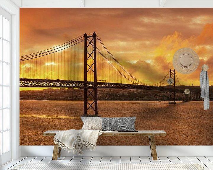 Impression: Lisbonne au coucher du soleil sur Frank Herrmann