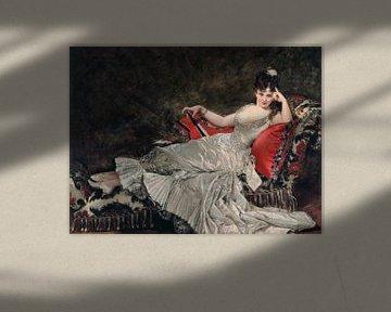 Frau de Lancey, Carolus-Duran, 1876 von Atelier Liesjes