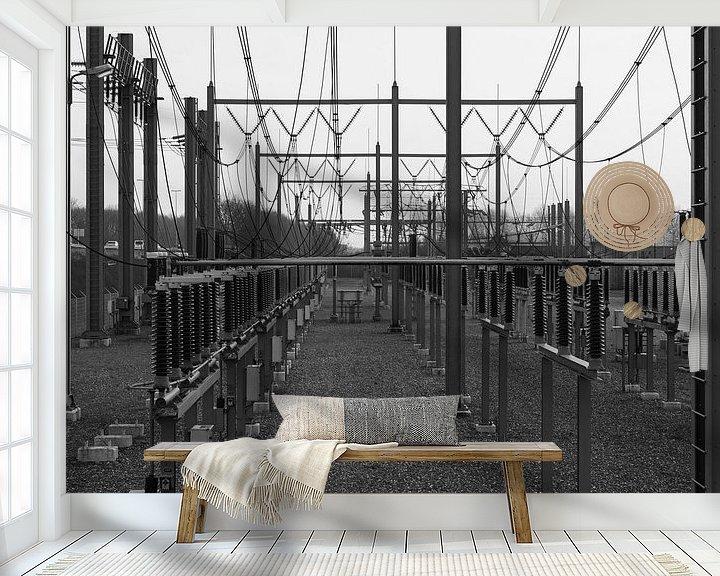 Sfeerimpressie behang: energie van Marcel Jansen