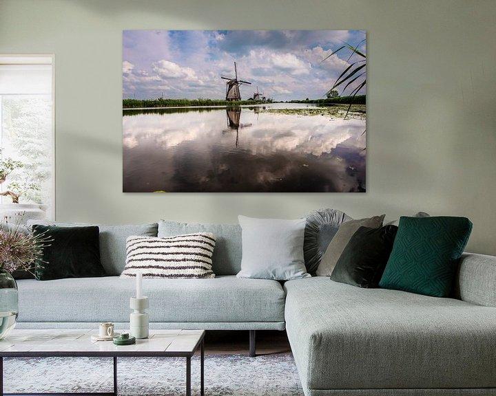 Sfeerimpressie: Windmolens aan de Kinderdijk. van Brian Morgan