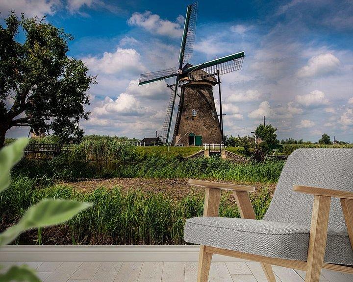 Sfeerimpressie behang: Windmills Holland van Brian Morgan