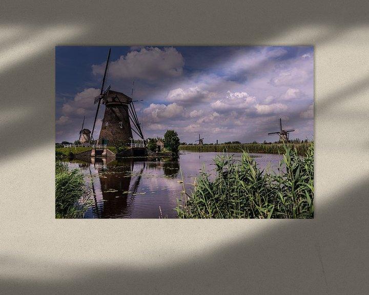 Impression: Moulins à vent sur le Kinderdijk sur Brian Morgan